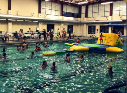 Inflatable Fun Raft in the MCC Pool