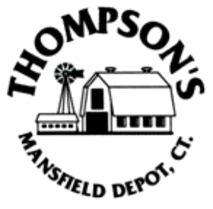 Logo for G. M. Thompson & Sons store featuring a barn