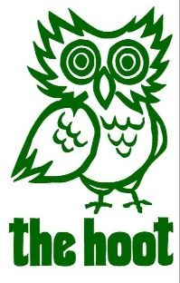Logo for The Hoot gift shop featuring an owl