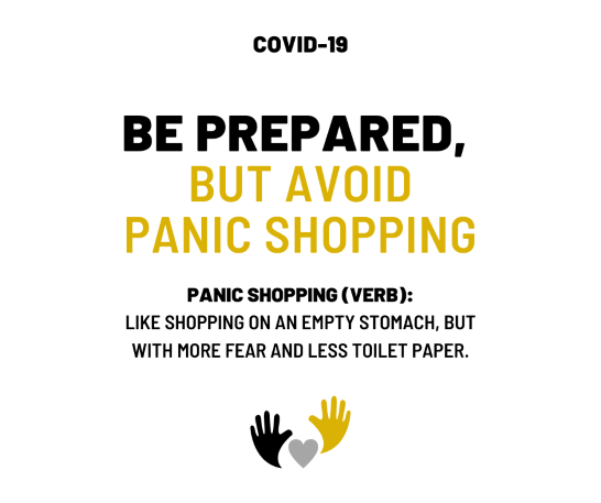 Avoid Panic Shopping