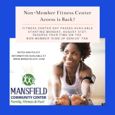 Non-Member Fitness Center Access is Back!