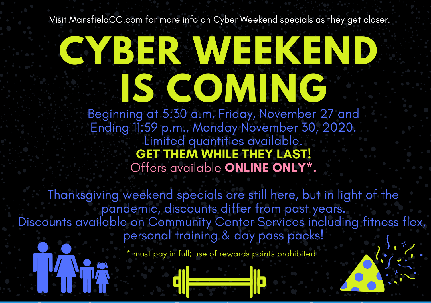 2021 cyber weekend teaser flyer